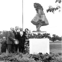 Unveiling Alice statue, 1962