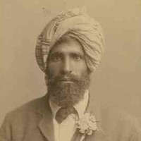 Image: sepia photograph of bearded man wearing a turban