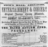 Image: A broadsheet announcing a concert for the Prince of Wales' birthday in November 1866