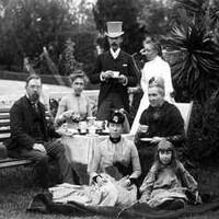Todd family tea party, c.1883