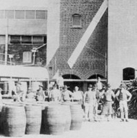 The brewing tower at West End Brewery, Hindley Street, Adelaide, 1890s