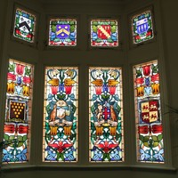 Stained glass window, Brookman Building, 2013