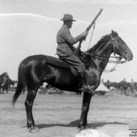 Image: Portrait of soldier on horse