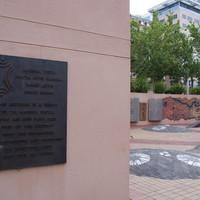 Image: Darryl Pfitzner Malika's Yerrakartarta with a focus on plaque at eastern end, 2018.