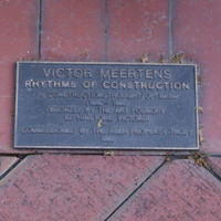 Image: Plaque at foot of Rhythms of Construction.