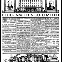 Image: newspaper page with images of people and buildings