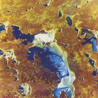 Image: satellite image of salt lake