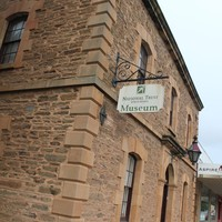 Image: Colour photo of a brick building with sign for the Gawler National Trust Museum.