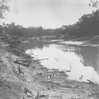 Image: View of construction works on river