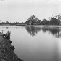 Image: View of the river with trees along the river bank