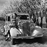 Image: Woman with Vauxhall car