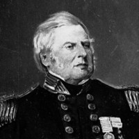 Image: A full-length portrait of a middle-aged man in naval officer's dress uniform
