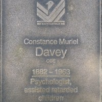 Jubilee 150 walkway plaque of Constance Muriel Davey
