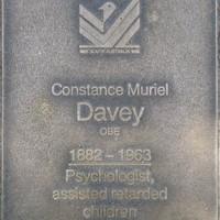 Jubilee 150 walkway plaque of Constance Muriel Davey