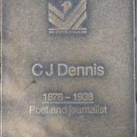 Jubilee 150 walkway plaque of C.J. Dennis