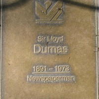 Jubilee 150 walkway plaque of Sir Lloyd Dumas