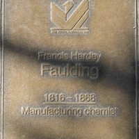 Jubilee 150 walkway plaque of Francis Hardy Faulding