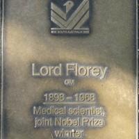 Jubilee 150 walkway plaque of Lord Florey