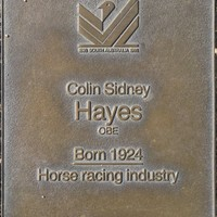 Jubilee 150 walkway plaque of Colin Sidney Hayes