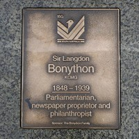 Image: Sir Langdon Bonython Plaque
