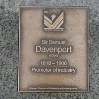 Image: Sir Samuel Davenport Plaque