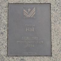 Image: George Hall Plaque