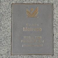 Image: Sir John Melrose Plaque
