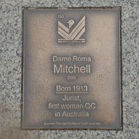 Image: Dame Roma Mitchell Plaque