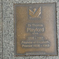 Image: Sir Thomas Playford Plaque