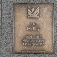 Image: John Ridley Plaque