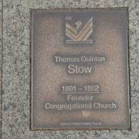 Image: Thomas Quinton Stow Plaque