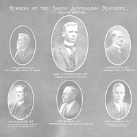 Image: composite image depicting portraits of men working in South Australian ministry