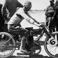 Image: Motorcycle race competitor