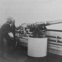 Image: HMCS Protector gunner