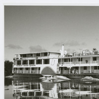 Image: Large paddle steamer on water