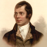 Portrait of Robert Burns, Ayr, Scotland
