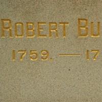 Robert Burns statue detail
