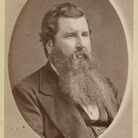 Image: Portrait photograph of Rev. John Davidson. He has a long beard.