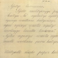 Letter in Kaurna by Wailtyi, 1843