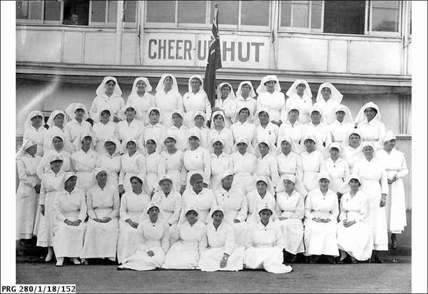 Image: Women in white uniforms