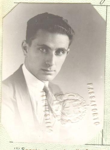 Image: black and white photo of man