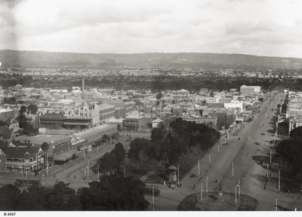 Image: view of trees and cityscape