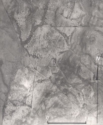 Image: areal view of eroded land
