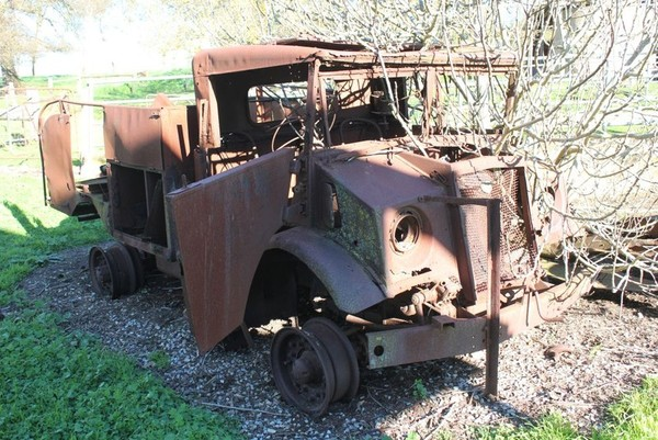 Image: rusted remains of truck
