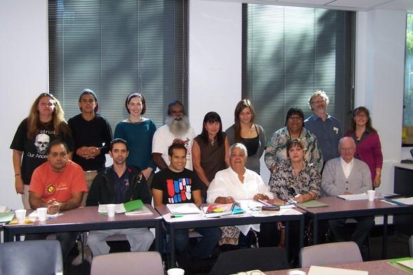Kaurna students and teachers, TAFE Certificate III course, 2012