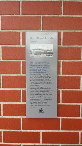 Image: Historic Recognition plaque for former Hutt Street Private Hospital