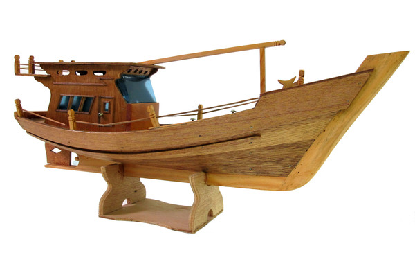 Image: Model of a Vietnamese fishing boat
