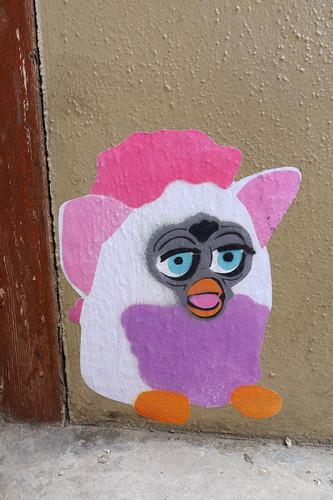 Image: Furby paste-up