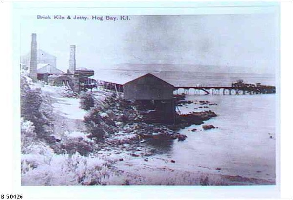 Image: Brick kiln and jetty, Kangaroo Island