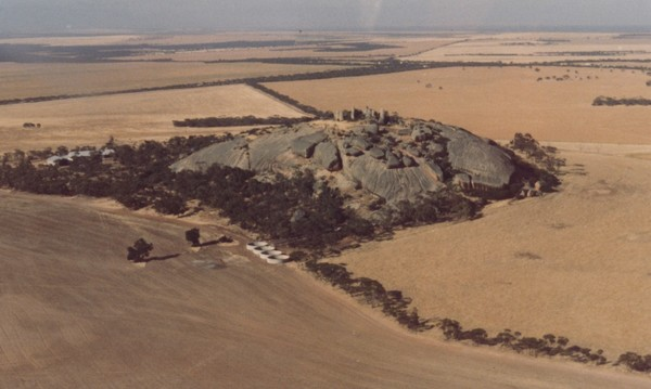 Image: aerial view of hill